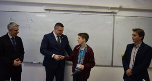 Olimpicul Alin Sava, felicitat de prefect