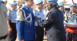 Jandarm din Vaslui, întors dintr-o misiune în Mali