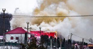 Casă în flăcări la Munteni de Jos