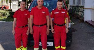 Trei paramedici de la Detașamentul de pompieri Bârlad, eroii zilei!