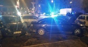 Accident în sensul giratoriu de lângă Interex: 4 mașini implicate!