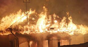O locuință din Coroiești, arsă din temelii!