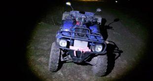 Un tânăr din Lunca Veche, prins conducând un ATV neîmatriculat și fără permis