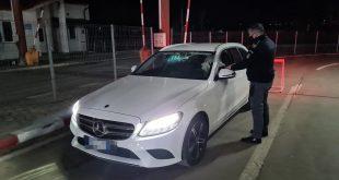 Un moldovean prins circulând cu o mașină, care avea numere false!